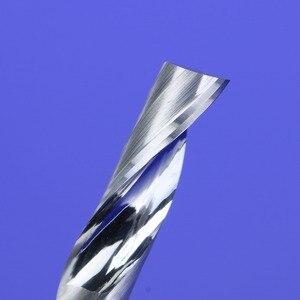 Image 5 - 1Pcs 3.175/4/5/6/8mm Single Flute Milling cutters for Aluminum CNC Tools Solid Carbide,aluminum composite panels