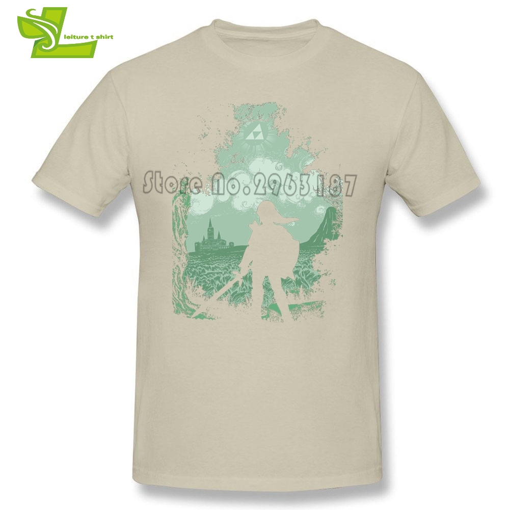 The Legend Of Zelda T Shirt Adult New Coming Simple Camisetas Casual Exercise T-Shirts Men's Summer Crew Neck Picture Dad Tee
