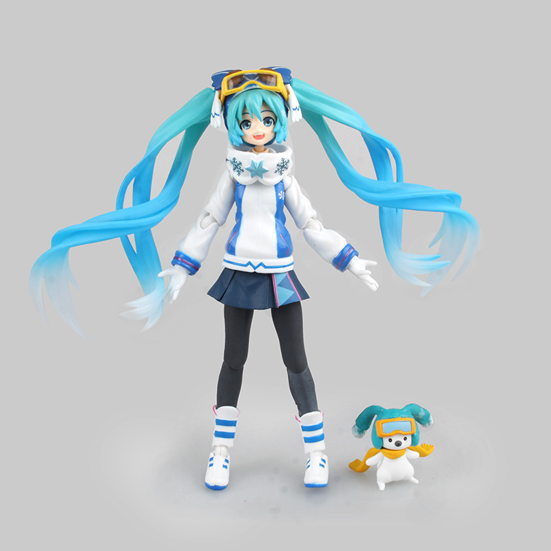 Hatsune Miku Snow Miku Figma EX-030 PVC Action Figure Collectible Brinquedos Kids Toys Juguetes 14cm Free Shipping anime vocaloid hatsune miku figma ex 037 twinkle snow ver pvc action figure collectible model kids toys doll 14cm