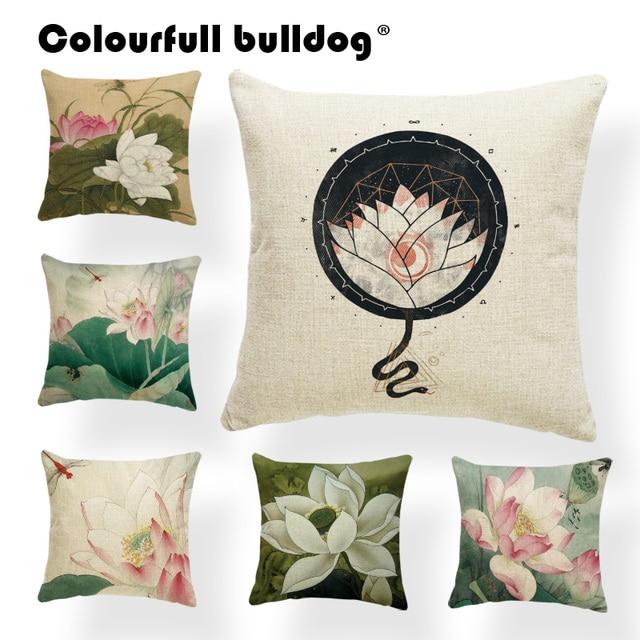 Plants Lotus Seeds Cushion Pillow Flower Pillow Cushions
