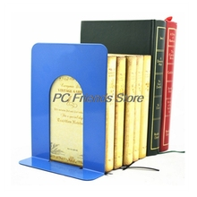 Simple Style Metal Bookends Iron Support Holder Nonskid Desk Stands For Books-PC Friend