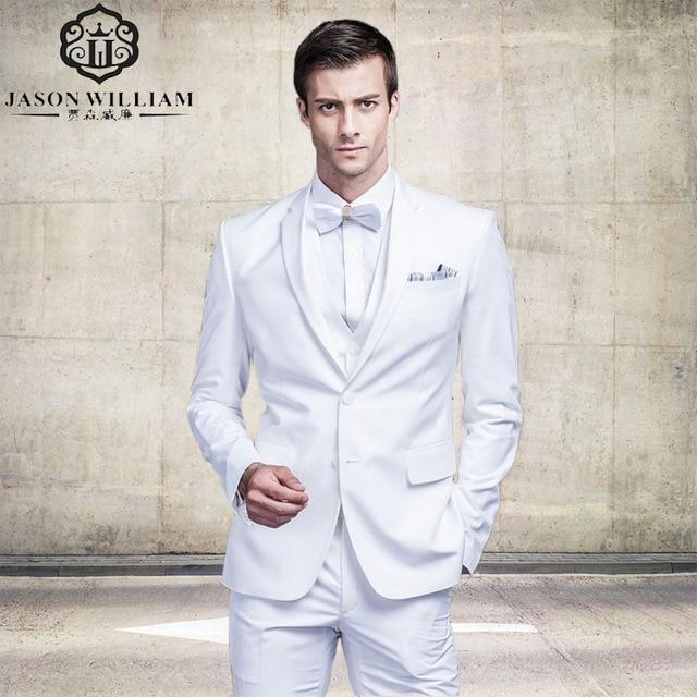 LN082 Classic quality white men suit tuxedos terno costume ...