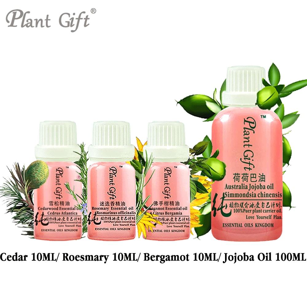 100% Pure Plant Essential Oils Cedar / Roesmary / Bergamot / Jojoba Oil Morocco Imports Convergence Pores Hemostasis Improve monton minuosi 085