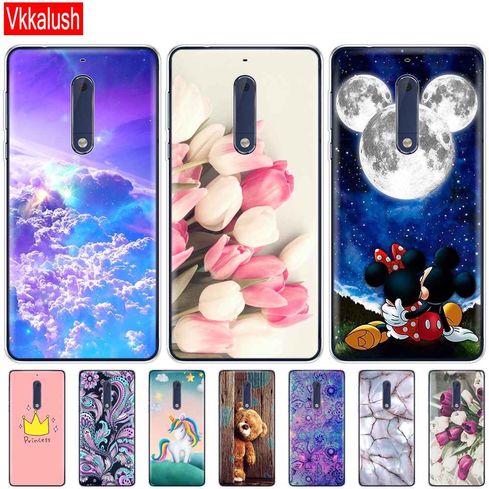 Silicon <font><b>Case</b></font> For <font><b>Nokia</b></font> 1 2 2.1 3 3.1 5 <font><b>5.1</b></font> Plus 2018 Soft Tpu Back Cover Shockproof Coque Bumper Housing <font><b>Phone</b></font> <font><b>Case</b></font> image