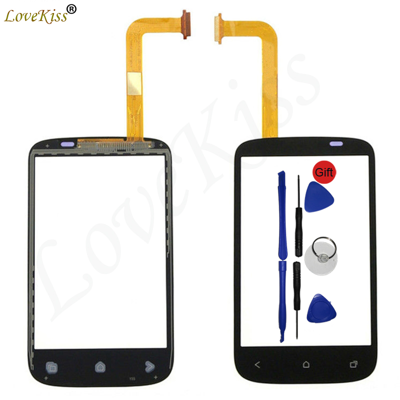Lovekiss Touchscreen Front Panel For HTC Desire C A320e Touch Screen Sensor LCD Display Digitizer Outer Glass Replacement ToolsLovekiss Touchscreen Front Panel For HTC Desire C A320e Touch Screen Sensor LCD Display Digitizer Outer Glass Replacement Tools