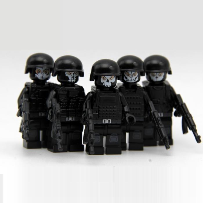 5pcs/sets weapon gun mini figures original model city kits Blocks toys swat police military tactical weapons accessories