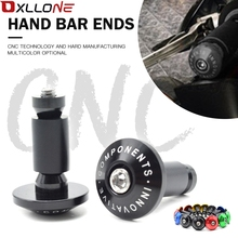 7/8 22mm CNC Aluminum motorcycle handlebar hand handle bar grips ends For Yamaha FZ6 2006 2010 TMAX 500  XC W EXCTMAX 530 KTM