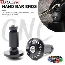 7/8 22mm CNC Aluminum motorcycle handlebar hand handle bar grips ends For Yamaha FZ6 2006 2010 TMAX 500  XC W EXCTMAX 530 KTM
