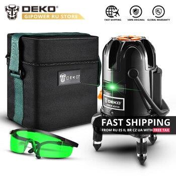 DEKO DKLL501 5 Lines 6 Points Self Leveling 360 Degrees Laser Level Green Vertical Horizontal Laser Lines 505nm Indoor/Outdoor