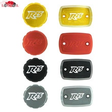 NEW Aluminum Red Motorcycle Front Rear Brake Fluid Fuel Reservoir Tank Cap Cover For Yamaha YZF R25 R3 YZF-R25 2014-2015
