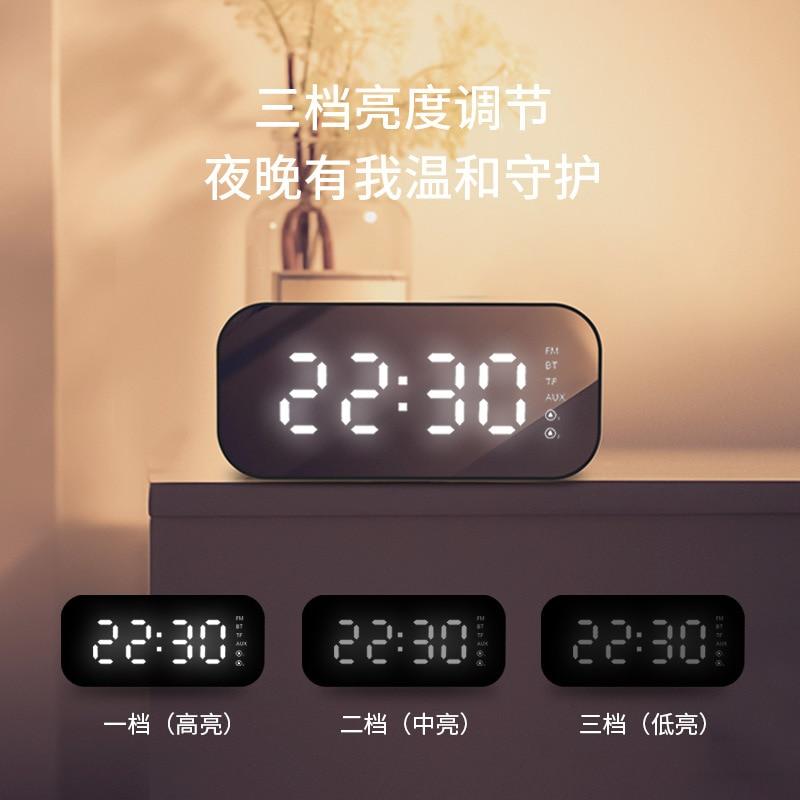 Nuova lampada A LED con Altoparlante senza fili del Bluetooth Mini Ultra basso gun specchio sveglia intelligente Stereo - 2