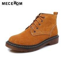 Новый на осень-зиму женские ботильоны спилок женская обувь зимние ботинки на шнуровке Sapatos большой размер: 35–42 2221 Вт