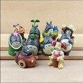 10 Pçs/lote Ghibli Hayao Miyazaki Mini Totoro Ornamento Estatuetas Em Miniatura Jardim Lote Princesa Mononoke Ônibus Totoro Mei Miniatura