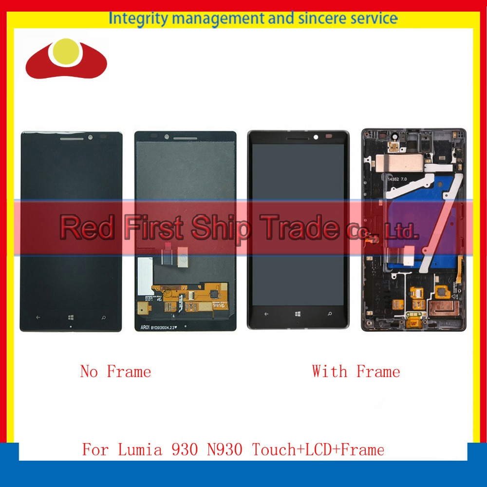 High Quality For Nokia Lumia 930 Full LCD Display Touch Screen Digitizer Sensor Assembly Complete Panel With Frame Free Shipping high quality for iphone 4 4g 4s full lcd display touch screen digitizer sensor assembly complete with frame bezel white black