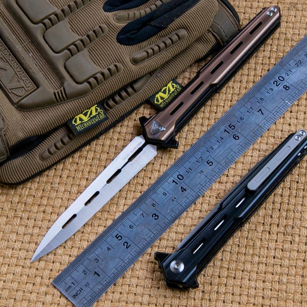 CNO DT02 tactiques couteau pliant D2 lame KVT roulement à billes en acier titanium poignée camping chasse survie En plein air couteaux edc OUTILS