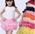 Бесплатная доставка Новый 2015 детская одежда девушки Мини юбка дети юбки девушка юбки слойки слоистых тюль принцесса пачки юбки
