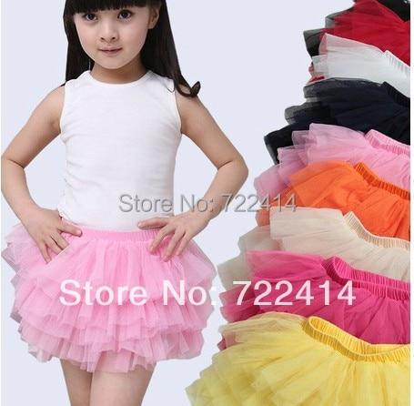 f7e7984857c6c شحن مجاني جديد 2015 ملابس فتاة تنورة أطفال تنورة فتاة صغيرة نفخة تنورة  الطبقات تول الأميرة توتو التنانير