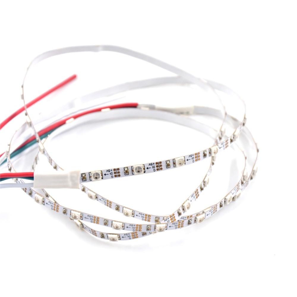 10X1M Addressable DC5V SK6812 MINI 3535 RGB led pixel strip 60LEDsm 4mm FPC NON waterproof White PCB 60pixelsM as WS2812B
