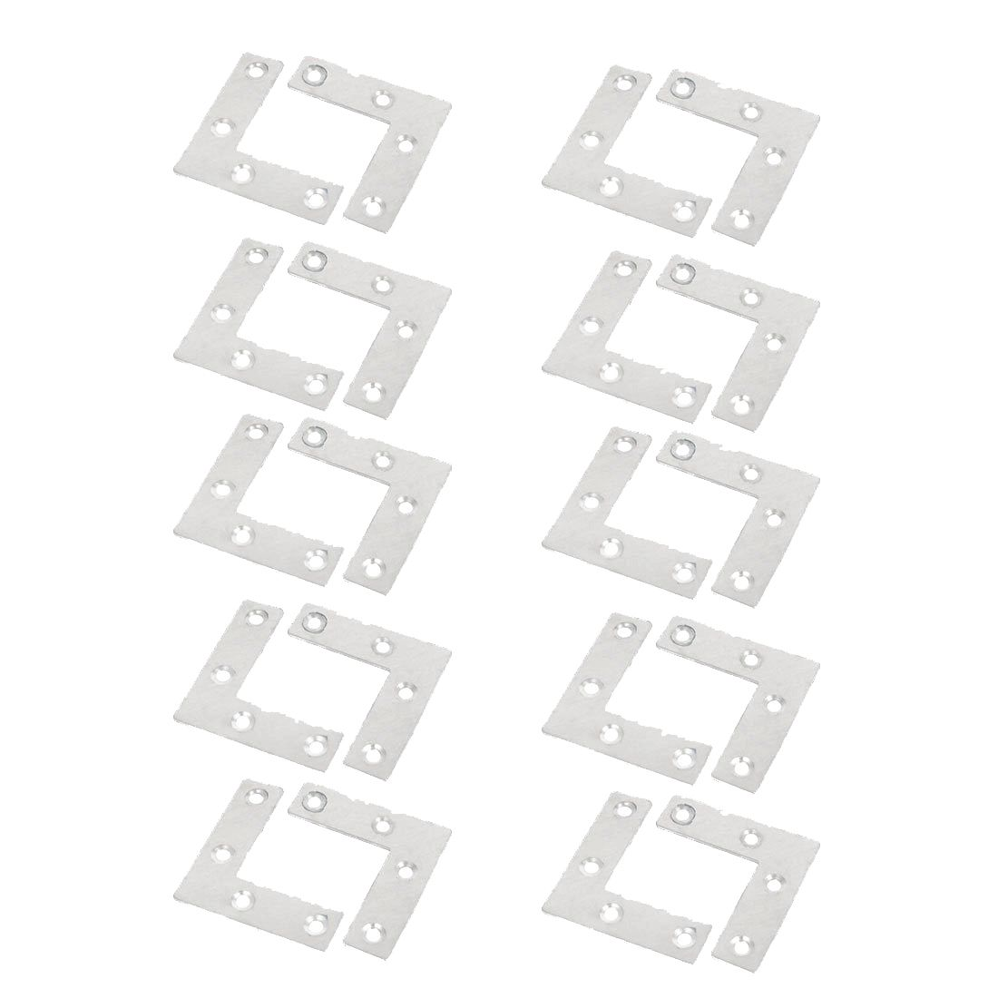 20x Stainless Steel Flat Corner Angle Bracket Plates Repair Brace Silver 10pcs lot stainless steel flat corner brace fixed angle plate connector repair bracket 38mm 15 6mm thickness 1 73mm k160