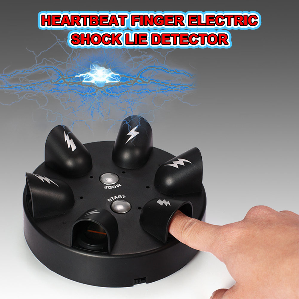 Shocking Roulette Lie Detector Electric Polygraph Test Finger Toy Party Drinking Game 88 YJS Dropship