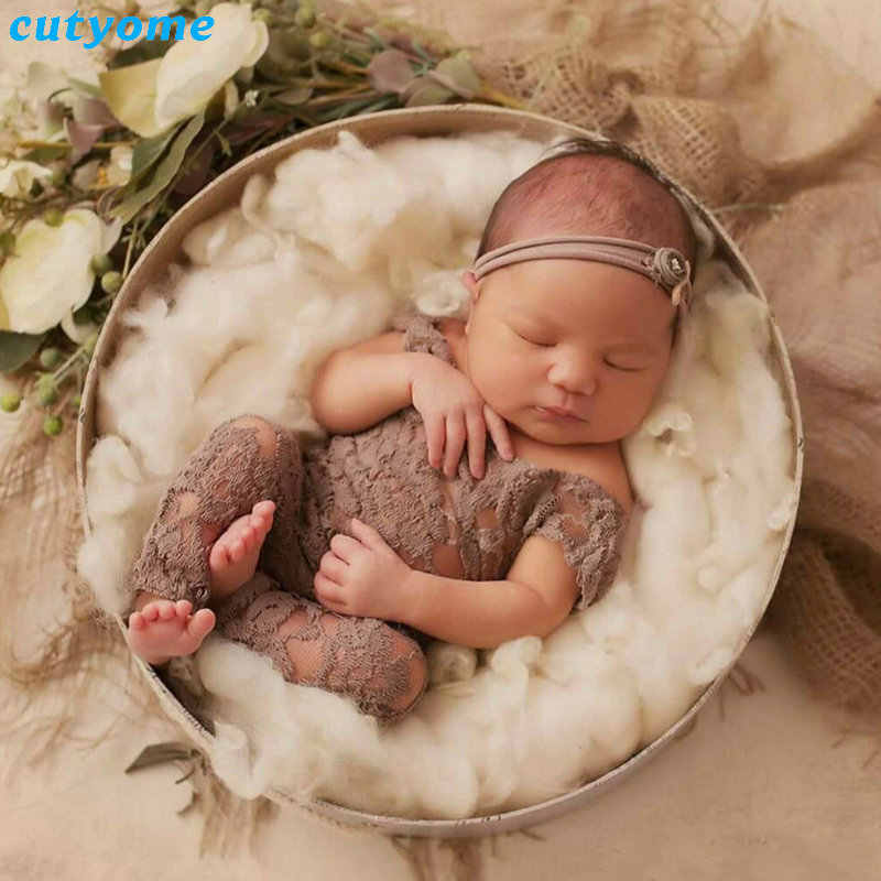 Newborn Baby Girls Lace Rompers New Born Photography Props Shoot Clothes  For Infant Girl Jumpsuit CLothing ab116eb8a8ab