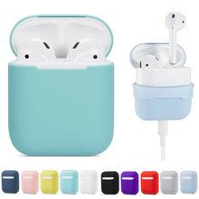 Funda de silicona blanda para Apple Airpods Bluetooth, auriculares inalámbricos, funda protectora para Airpods