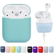 Miękki futerał silikonowy słuchawki dla Apple Airpods bezprzewodowa słuchawka Bluetooth ochronna skóry pudełko z przykrywką dla Air Pods ucha strąków torba