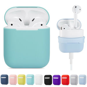 Image 1 - Soft Silicone Case Earphones for Apple Airpods Bluetooth Wireless Earphone Protective Skin Cover Box for Air Pods Ear Pods Bag
