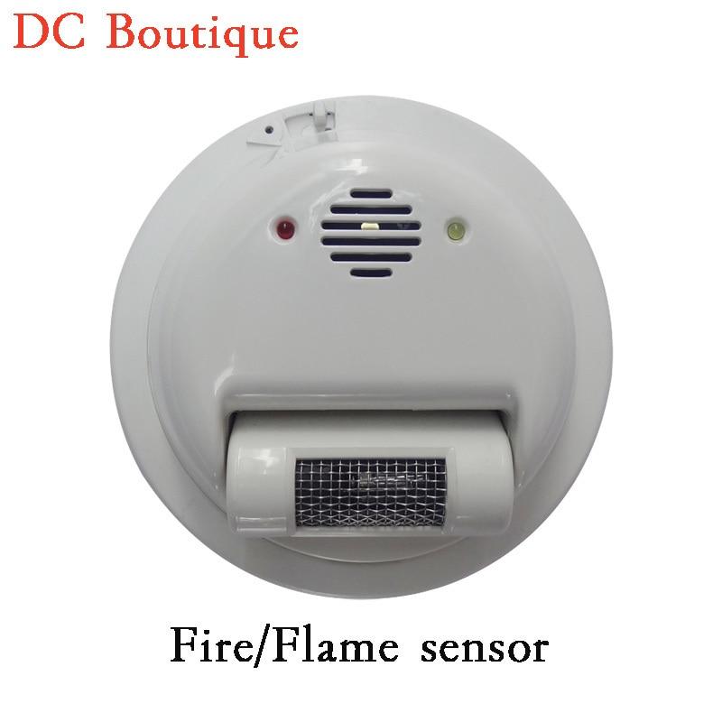 (1 PCS) 2000E Fio sensor de Alarme de Incêndio detector de Chama Ultravioleta raios Detector Home security protection NC/NO relé de saída do sinal - 2