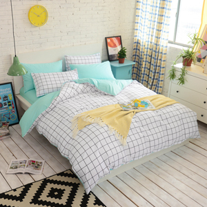 Free Ship Comfortable Household Plaid Bedding Grid Print
