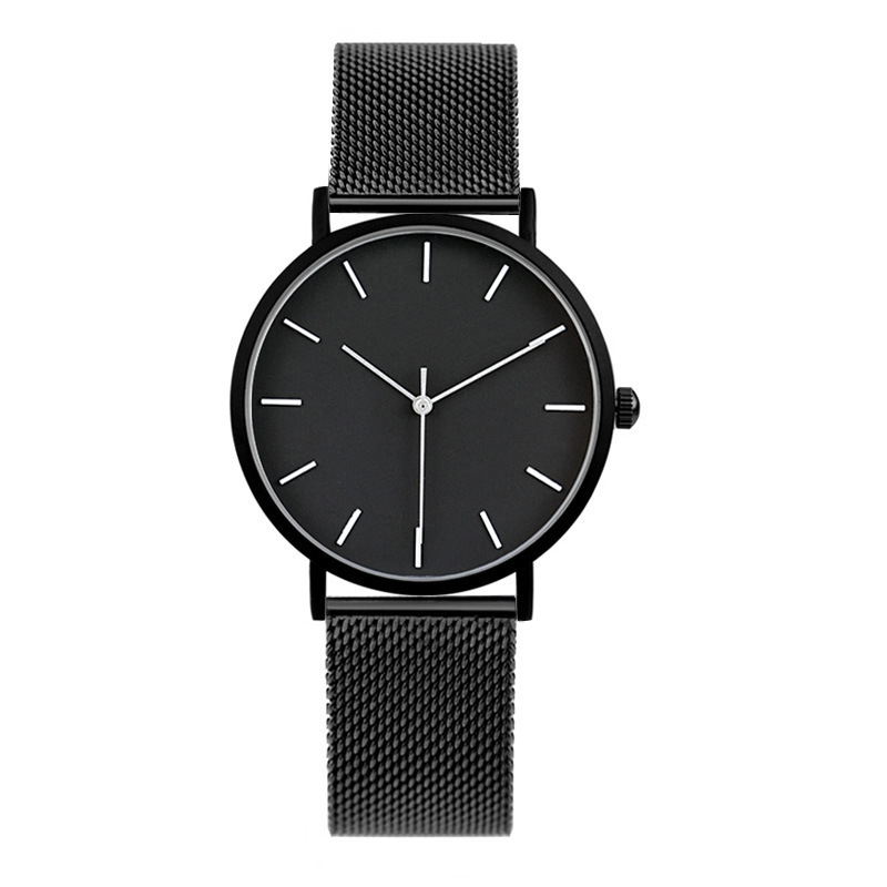 Dropshipping Men Women Fashion Stainless Steel Strap Analog Quartz Wrist Watch Luxury Simple Style Bracelet Watches Women Clock