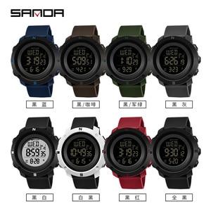 Image 5 - SANDA Reloj Hombre 2018 Fashion Sport Watch Men Digital Watches Countdown Stop Watch Relogio Masculino Waterproof Couple Clock
