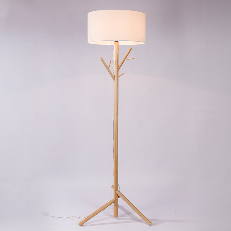 Floor Lamp Nordic Living Room Study Bedroom Bedside Decoration Solid Wood Tree Branches Down Table ZL18 Light Ya73