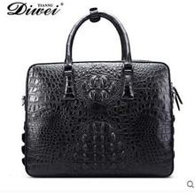 diwei male crocodile males purse single shoulder inclined throughout enterprise leisure bag cross part high quality items males purse