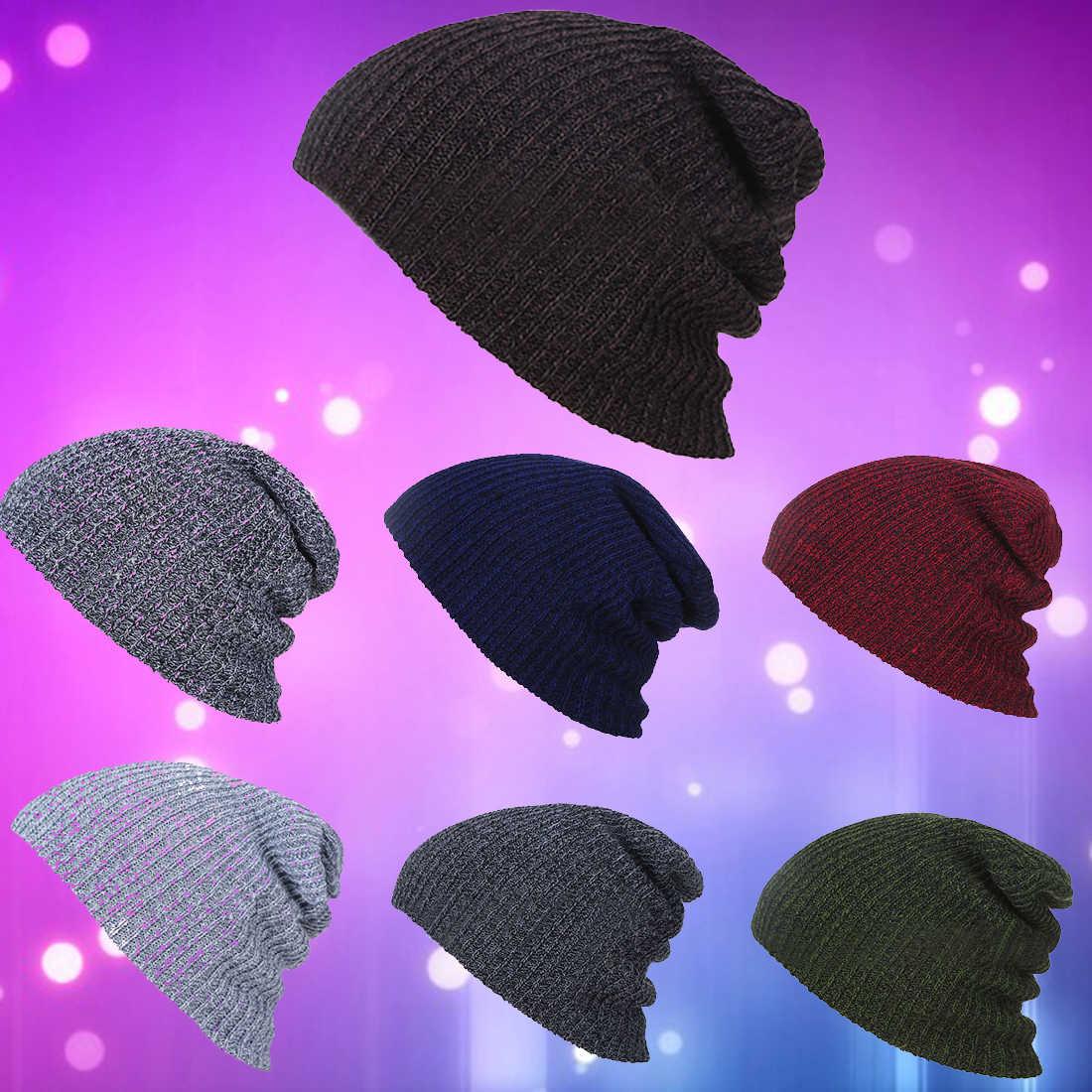 320645a7709 ... Hot Knit Men s Baggy Beanie Oversize Winter Warm Hats Slouchy Chic  Crochet Knitted Cap For Women ...