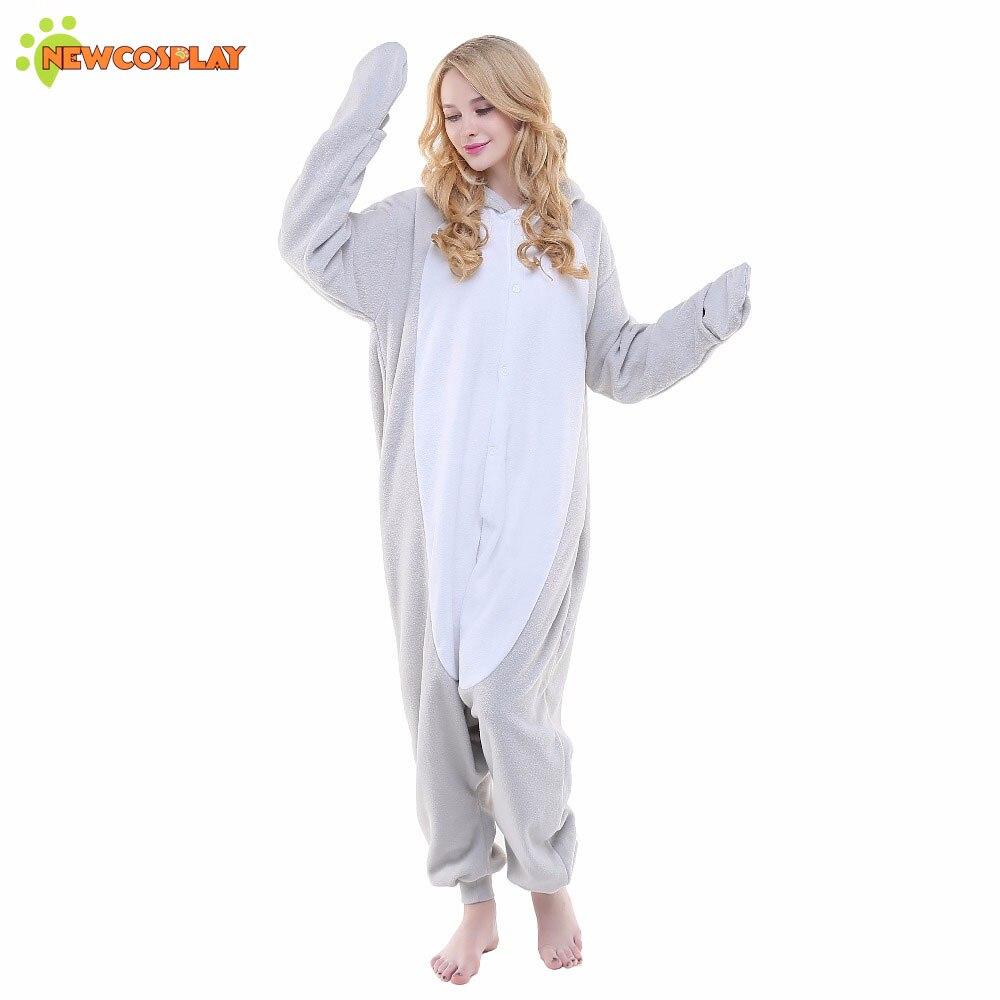newcosplay adult grey seal cosplay costume cute unicorn halloween pajamas unisex sleepwear onesies womens pajamas sets in anime costumes from novelty