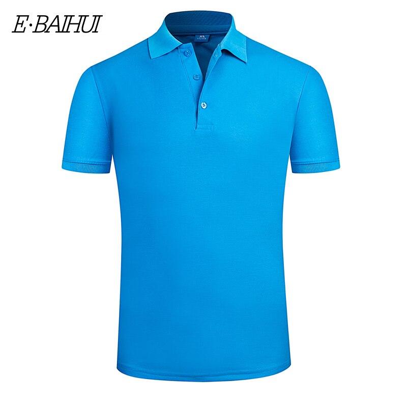 E-BAIHUI New Men's   Polo   Shirt High Quality Men Cotton Short Sleeve shirt Brands jerseys Summer Mens breathable   polo   Shirts P001