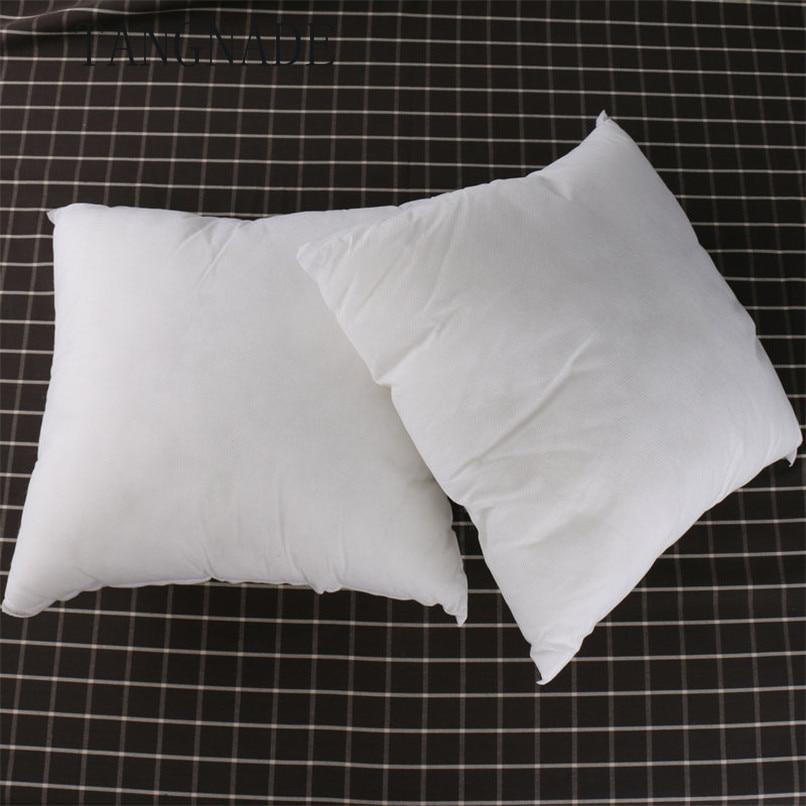 Standard Oreiller Coussin Core Coton Oreiller Intérieur Décoration Maison Blanc 45*45CM