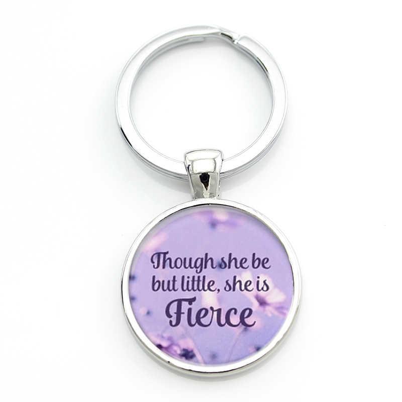 Tafree william shakespeare citação chaveiro masculino feminino jóias embora ela seja, mas pouco ela é feroz chaveiro titular ct547