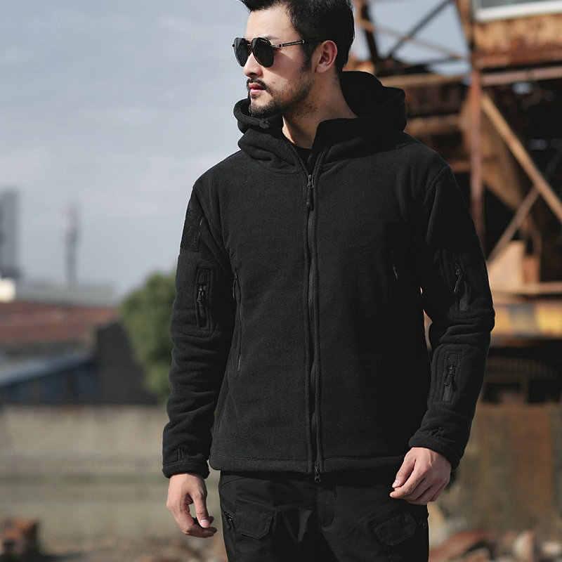 Мужская Флисовая тактическая куртка ZOGAA, теплая ветровка в стиле милитари, уличная одежда, куртки и пальто