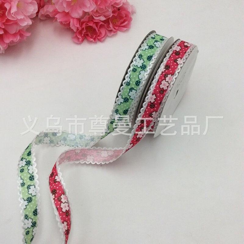 New Fashion Small Flower Buckle Lace Width For 2cm Webbing Ultrasonic Embossed Belt Headband Clothing Embossed Belt Wholesale in Webbing from Home Garden