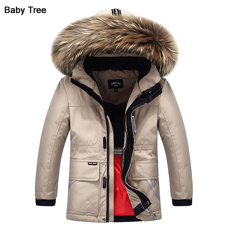 Joker Boys Down Jackets 20 degrees below zero temperature cold lock  Thicken Warmly 80% White Duck Down Coat for