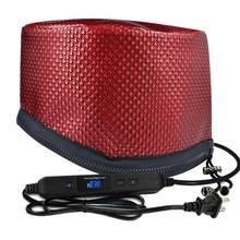 Электрический нагревательный колпачок фен для волос синхронизация Регулируемая температура с ЖК-монитором Испарительный колпачок отпариватель крышка для дома Парикмахерская
