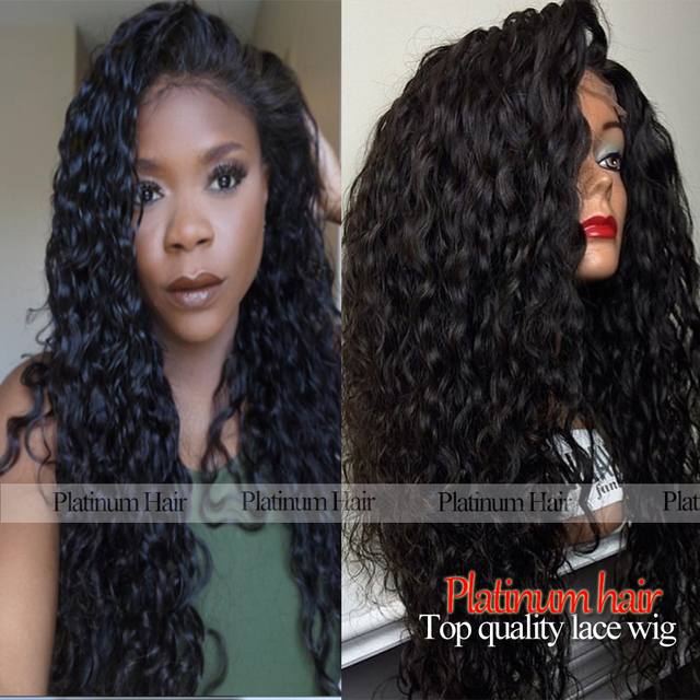 High Density Loose curly synthetic lace front wig long black curly wig heat resistant syntehtic lace front wig for black women