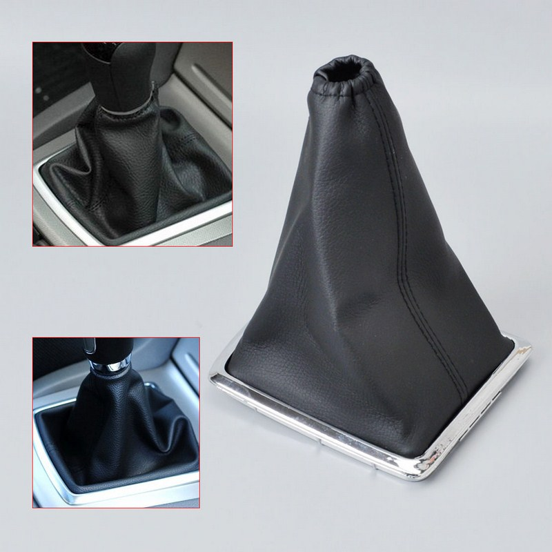 PU Leather Car Gear Gaiter Dust Proof Set Shift Knob Boot Auto Accessories Collars For Ford 2005-2012