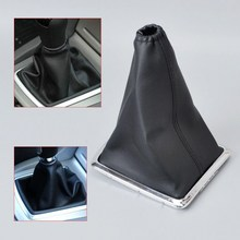 PU Leather Car Handbrake Gear Gaiter Dust Cover Set Shift Knob Boot Auto Accessories For Ford 2005-2012