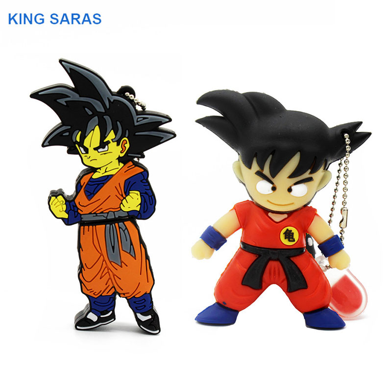KING SARAS Cartoon 64GB Dragon Ball Goku Model Usb Flash Drive Usb 2.0 4GB 8GB 16GB 32GB  Pendrive Cool Gift