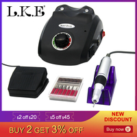 LKE 35000RPM Electric Nail Drill Manicure Machine Suitable For Nail Salons Accessory Pedicure Kit Nail File Bit Nail Drill tool