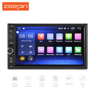 Zeepin J -2818N Android 6.0.1 Car Media MP5 Player 7-inch Quad-core HD Touch Screen Intel ATOM OBD WiFi DVR GPS Mutimedia Player