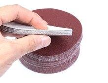 30 pcs 3 אינץ 75mm 80mm עגול נייר זכוכית דיסק חול גיליונות חצץ 320/400/600 /800/1000/1500 וו לולאה מלטש דיסק לסנדר גריסים